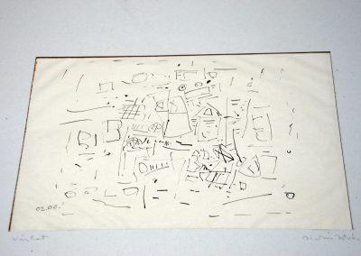 462. Vázlat 3. 1977.02.06. (28x20 cm) tus rajz