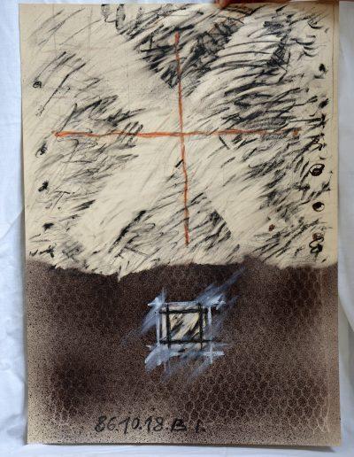 464.Cím nélkül 1986.10.18. (70x50 cm) v.t.