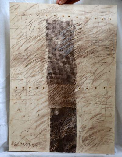 465. Cím nélkül. 1986.11.11.(70x50 cm) v.t.