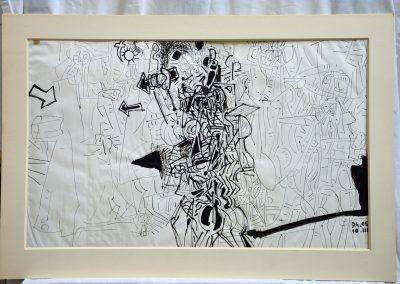 476. Háború III. Egy magányos harcos 1974. (41,5x68 cm) tus