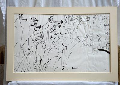 478. Háború XI. 1974.06.13. (41,5x68 cm9 tus