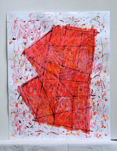 533. Cím nélkül 2010.o7.08. (50x40 cm) akvarell,zsírkréta