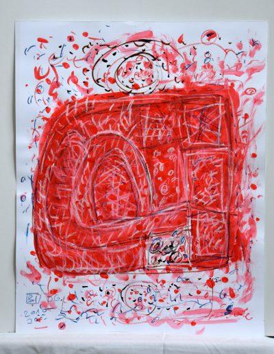 534. Cím nélkül 2010.06.30. (50x40 cm) akvarell, zsírkréta