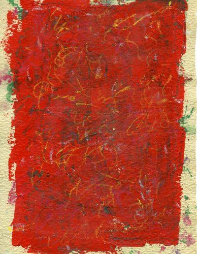 555. Piros rajz 2015. (20x15 cm) v.t.
