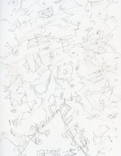 560. Cím nélkül 2000.08.25. (29,7x21 cm) ceruza rajz