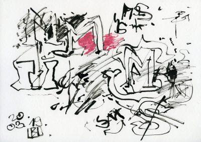 585. Cím nélkül 2002.03.19. (21x29,7 cm) tus