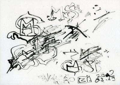 586. Cím nélkül 2002.03.19. (21x29,7 cm) tus